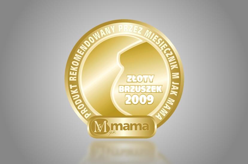 """2009 – Złoty Brzuszek """"M jak Mama"""" dla produktów z serii PERFECTA Mama"""